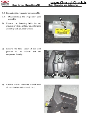 Mvm530-bodywork-chapter seven  disassembling and installing the evaporator-11-22-jpg